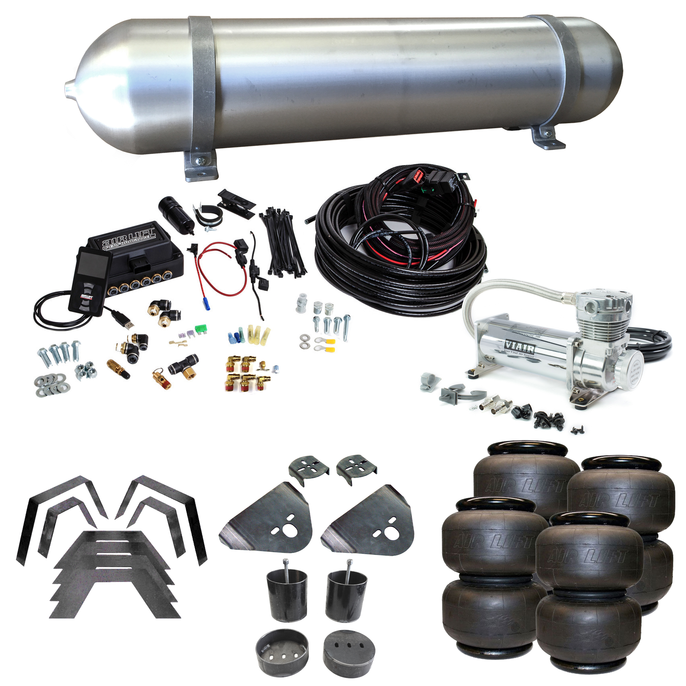 Stage 3 Air Suspension System with Air Lift Management- 99-06 Silverado