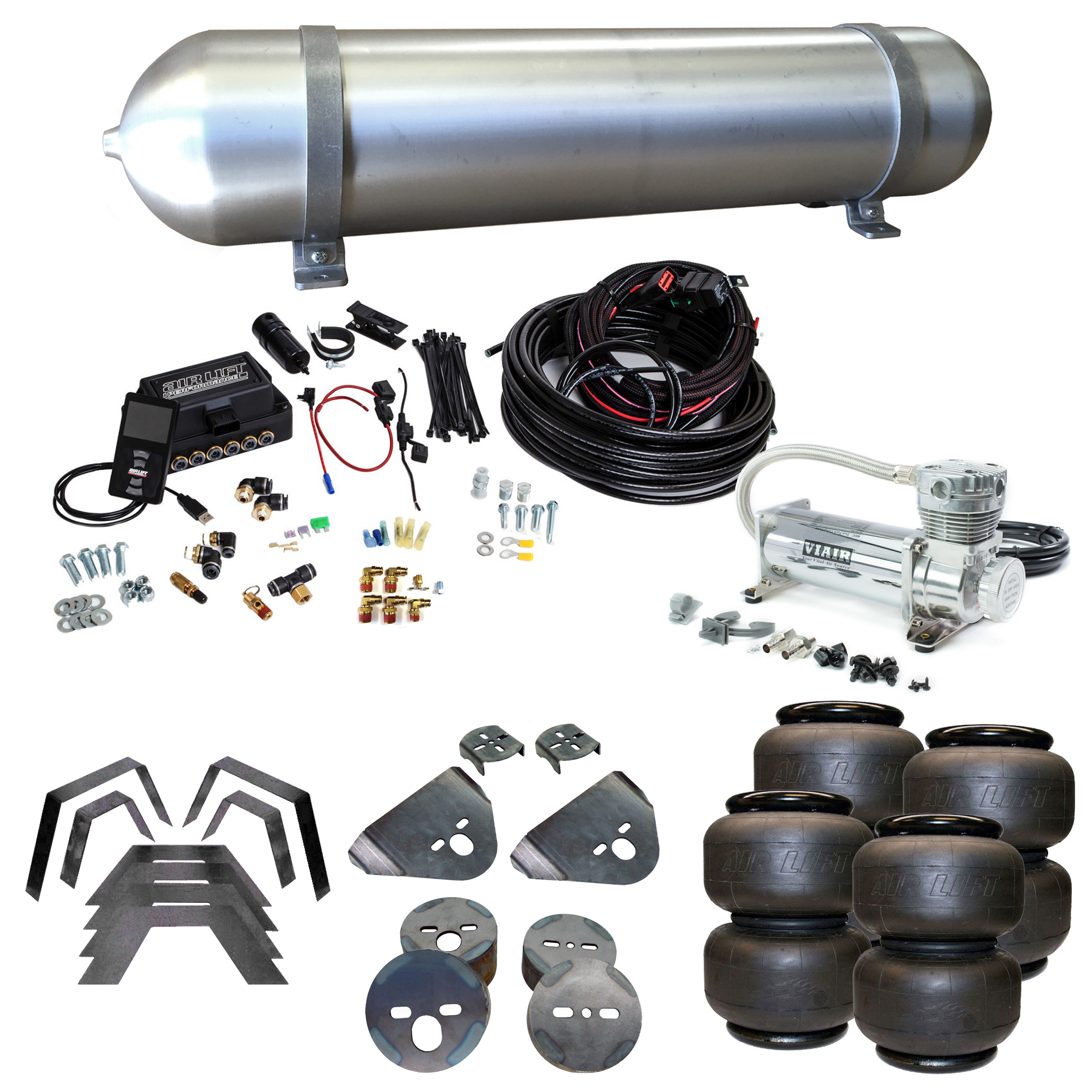 Stage 3 Air Suspension System with Air Lift Management- 94-01 Dodge Ram