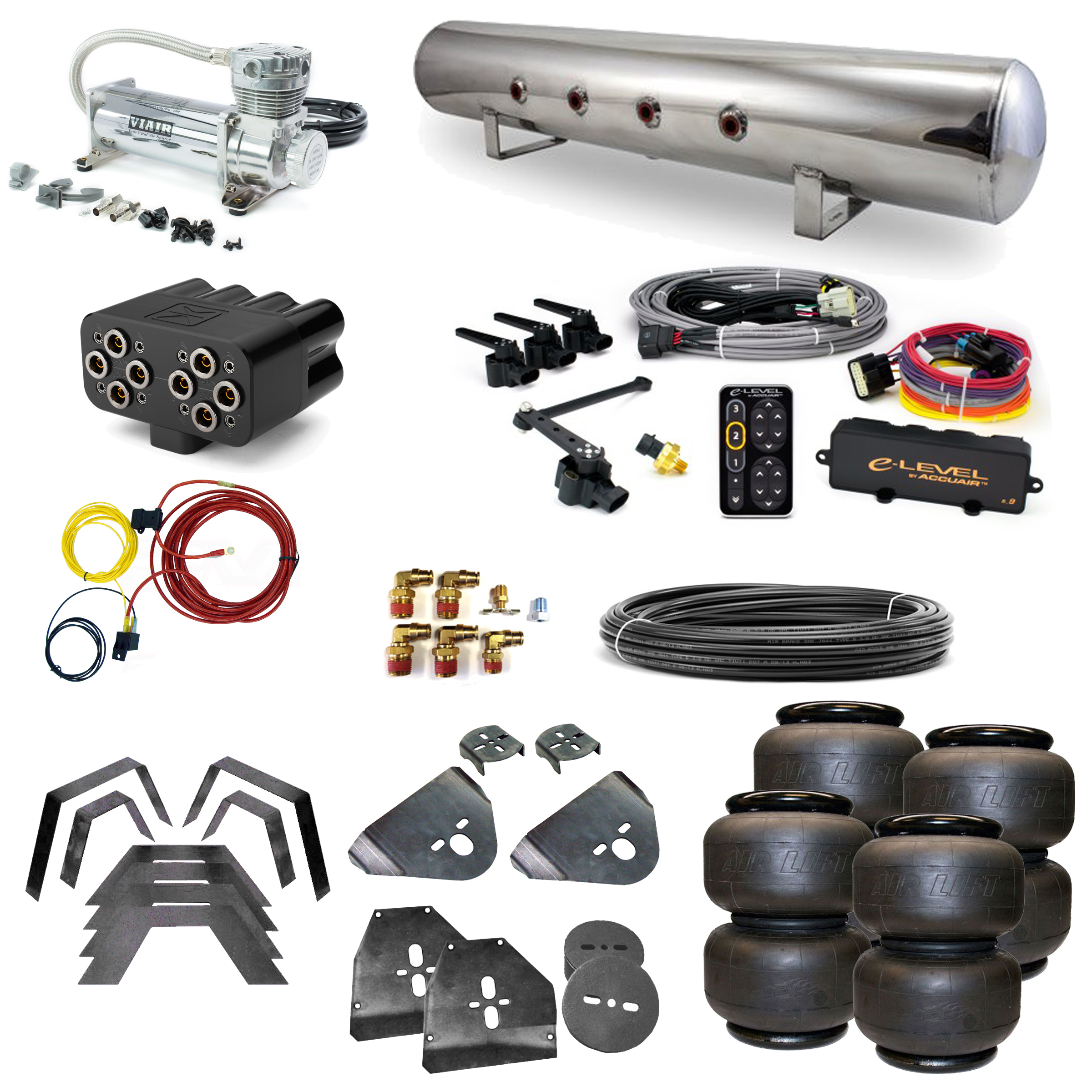 Stage 3 Air Suspension System with Accuair eLevel Management- 73-87 C10