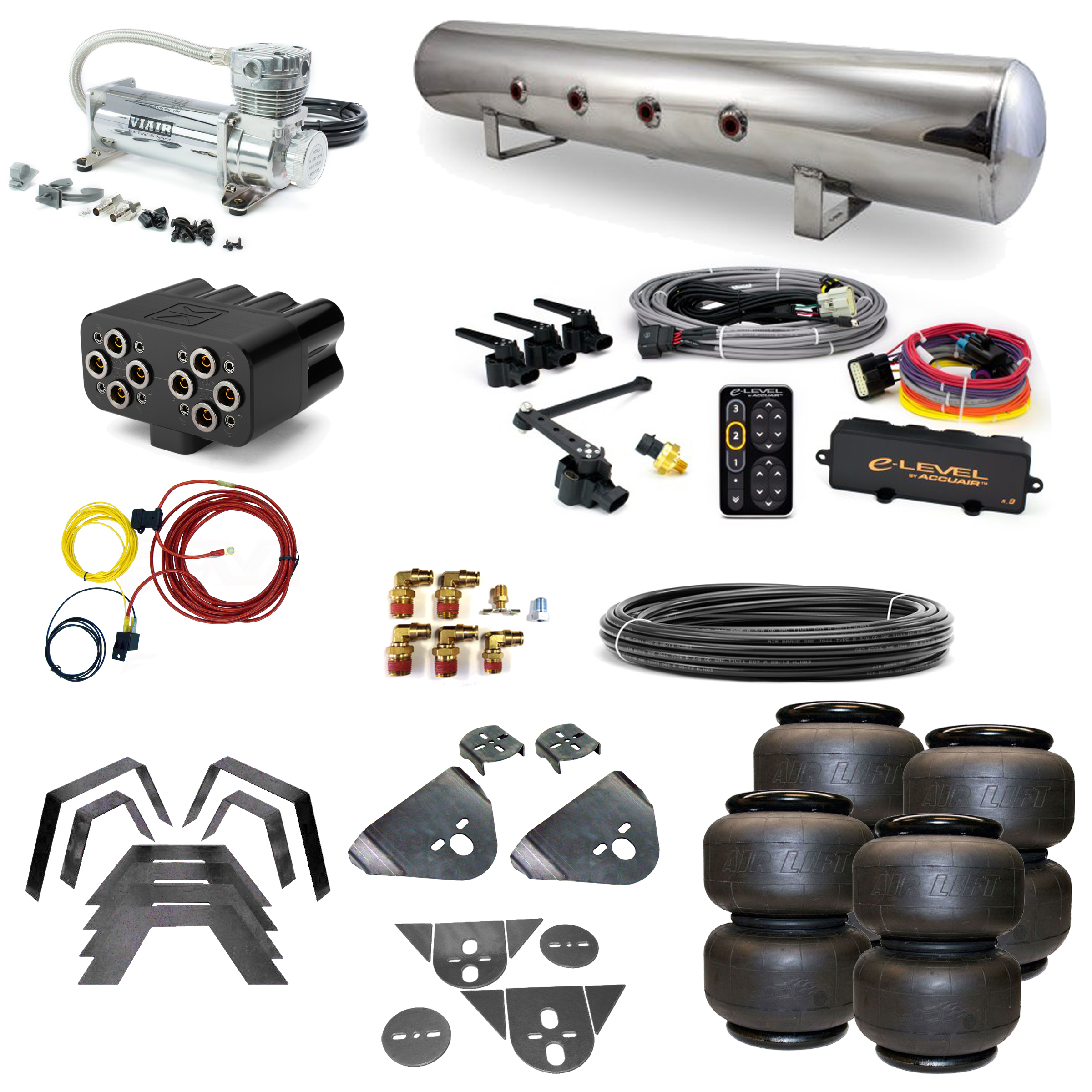 Stage 3 Air Suspension System with Accuair eLevel Management- 87-97 D21 Hardbody