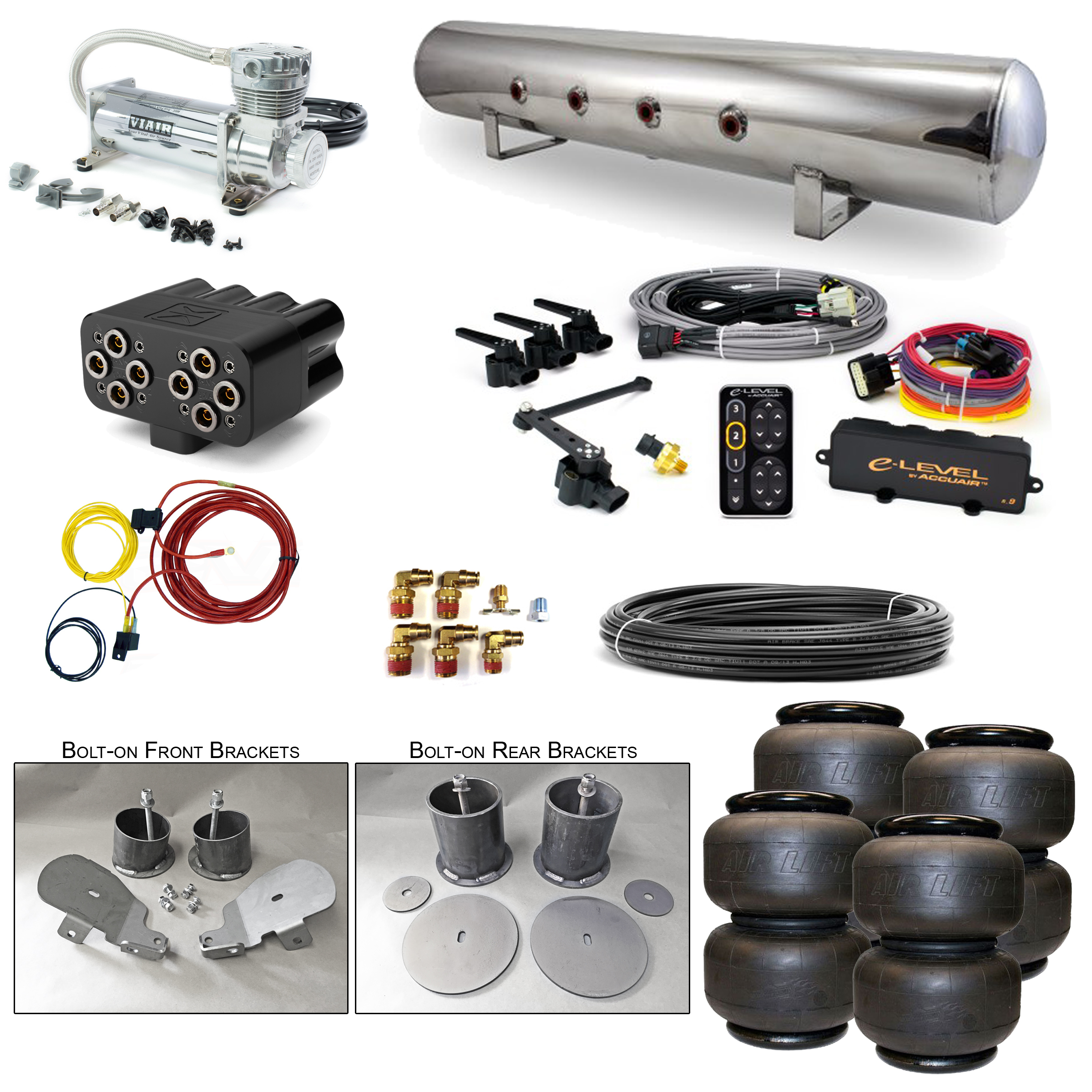 Stage 3 Air Suspension System With Accuair Elevel Management 65 70 1965 Chevy Impala Rear Wiring Home Systems Gm B Body
