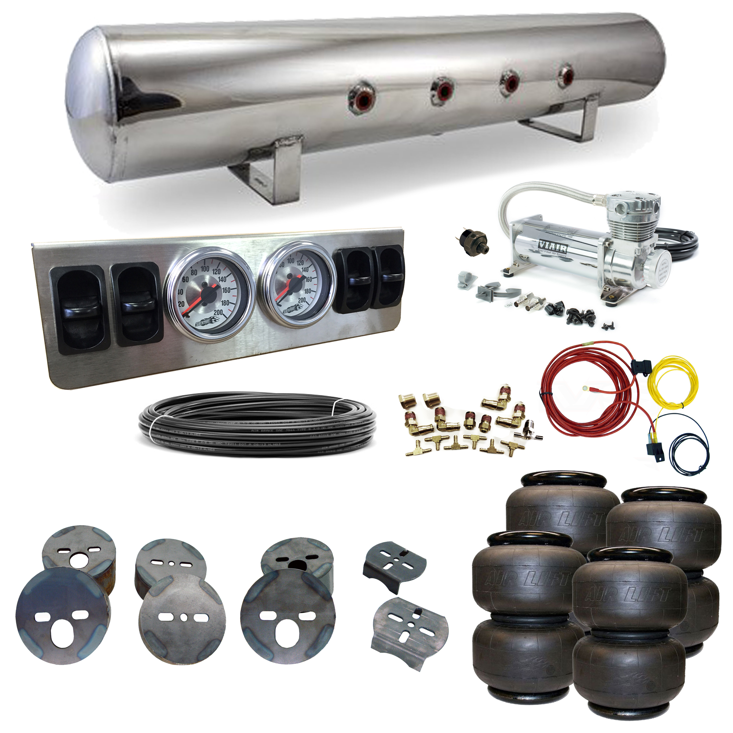 Stage 1 Air Suspension System- 77-96 Impala, Caprice, B-Body