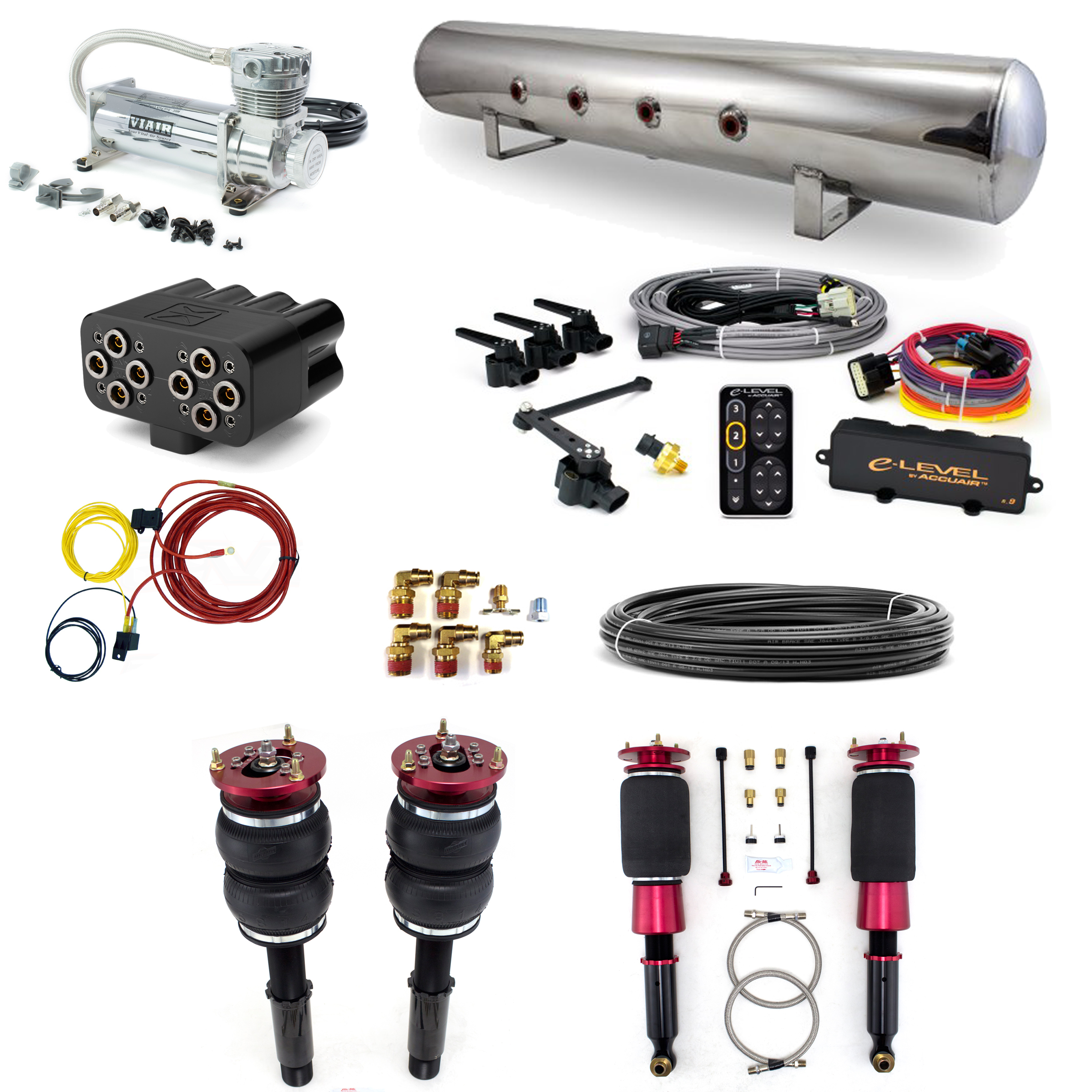 home > air suspension systems > bmw > e39 > accuair stage 3 air suspension  system - bmw 5 series (e39) 97-03 525i, 528i, 530i, 540i, and m5