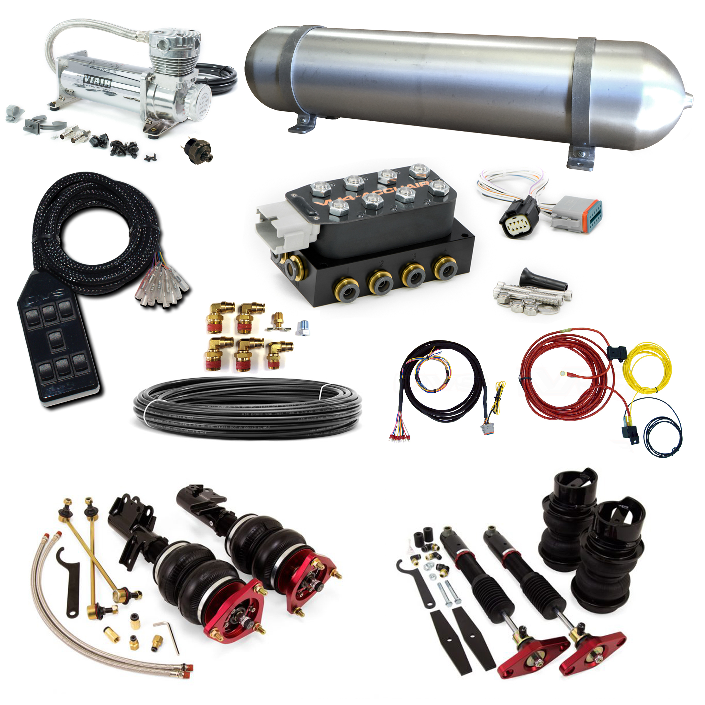 Stage 2 Air Suspension System- 09-16 Hyundai Genesis Coupe