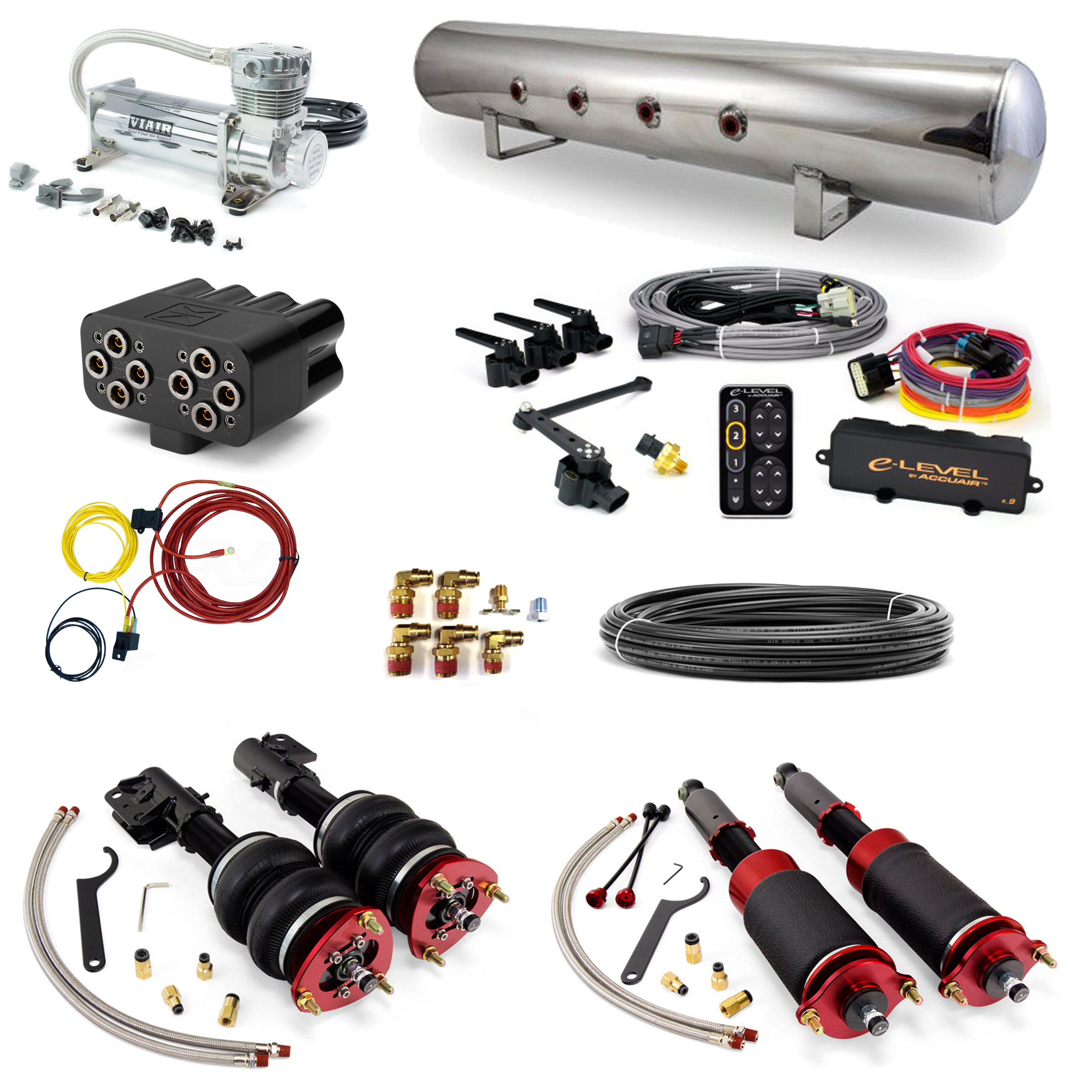 Accuair Stage 3 Air Suspension System 08 15 Evolution X All Models Simple Wiring Diagram Evo Home Systems Mitsubishi