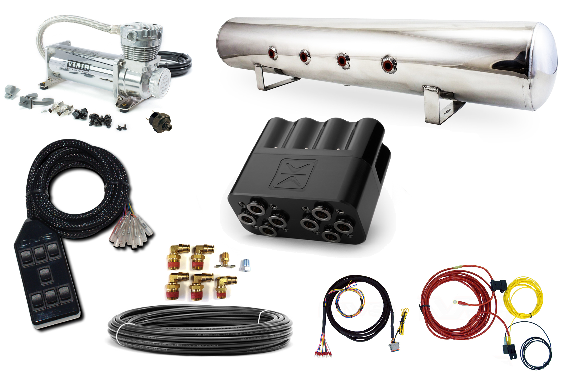 Stage 2 - Accuair Electric 4 Path Air Management Package on