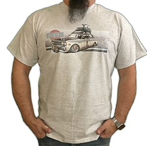 Twisted Images T-Shirt - Datsun 510 (Full Color) - Gray