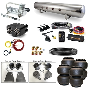 Stage 3 Air Suspension System with Accuair eLevel Management- 58-64 Chevy Impala