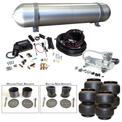 Stage 3 Air Suspension System with Air Lift Management- 63-65 Buick Riviera