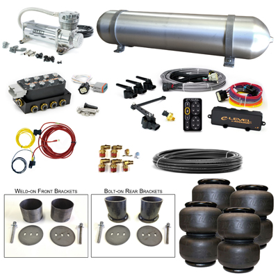 Stage 3 Air Suspension System with Accuair eLevel Management- 63-65 Buick Riviera