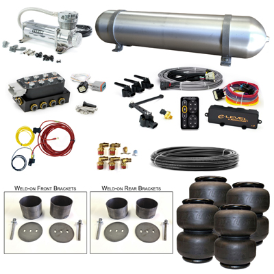 Stage 3 Air Suspension System with Accuair eLevel Management- 58-70 Cadillac