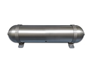 "24"" x 5.625"" Seamless Aluminum Air Tank w/ Mounting Brackets"