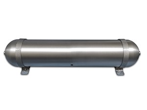 "28"" x 5.625"" Seamless Aluminum Air Tank w/ Mounting Brackets"