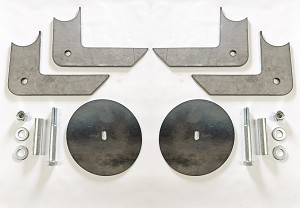 Behind-the-axle Lower Airbag Brackets - pair