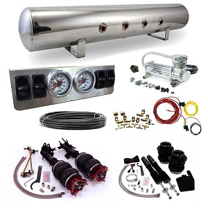 Stage 1 Air Suspension System- 13-16 Acura ILX, 12-15 Honda Civic & 12-13 Civic Si (9th Gen), fits USA/JDM Models