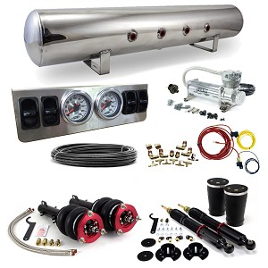 Stage 1 Air Suspension System- MKIV Platform: 98-10 VW Beetle, 99-05 VW Golf, 99-03 VW GTI, 99-05 VW Jetta, 98-06 Audi MK1 TT, 02-04 VW MKIV Golf R32, 00-06 Audi MKI TT Quattro