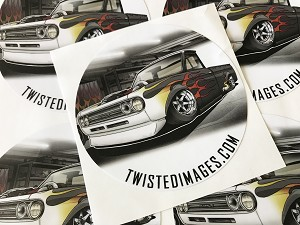"Twisted Images Sticker - Datsun 521 4"" Round"