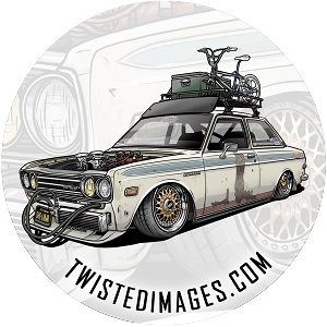 Twisted Images Sticker - Datsun 510 4