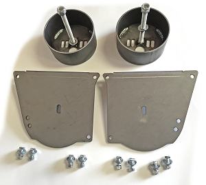 Front Airbag Brackets - 64-72 Chevelle